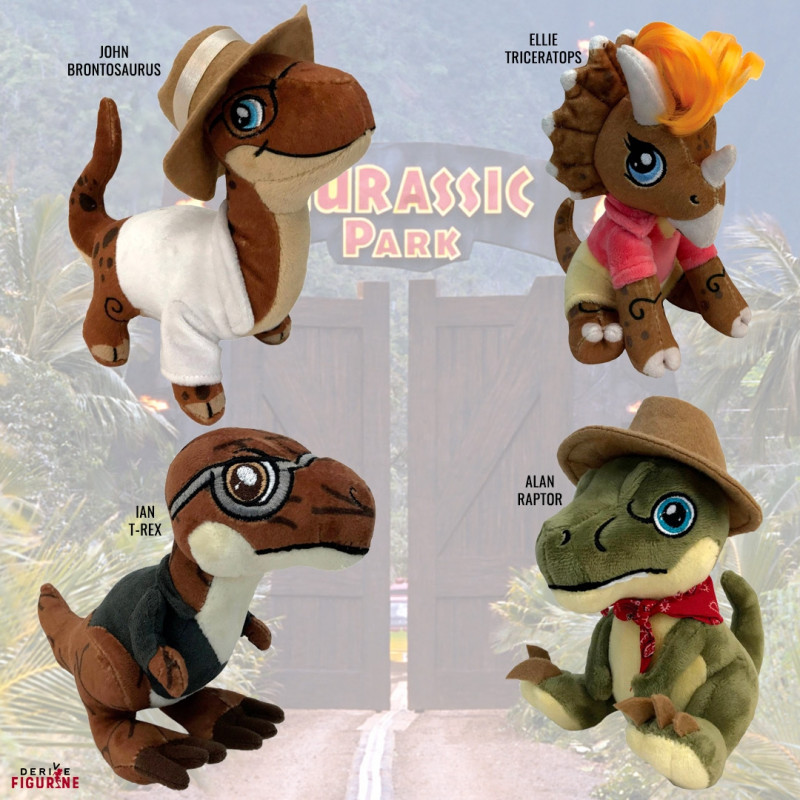Aurora Monkey Stuffed Animal, Pack 4 Plush Jurassic Park Factory Entertainment