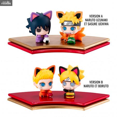 Maneki-Neko Maneki-Kyubi Petit Chara 2 Pack Mini Figure Set Megahouse Naruto
