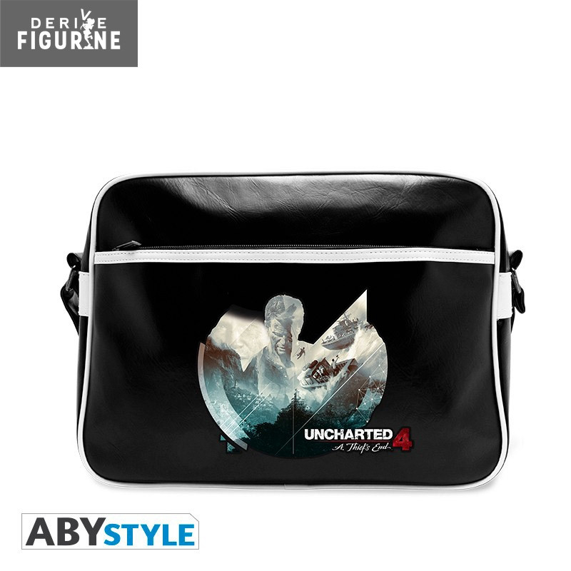 036bd91c24 Polyurethane Uncharted 4  A Thief s End bag that measures approximately  29x38 centimeters. It has a zipped outer pocket