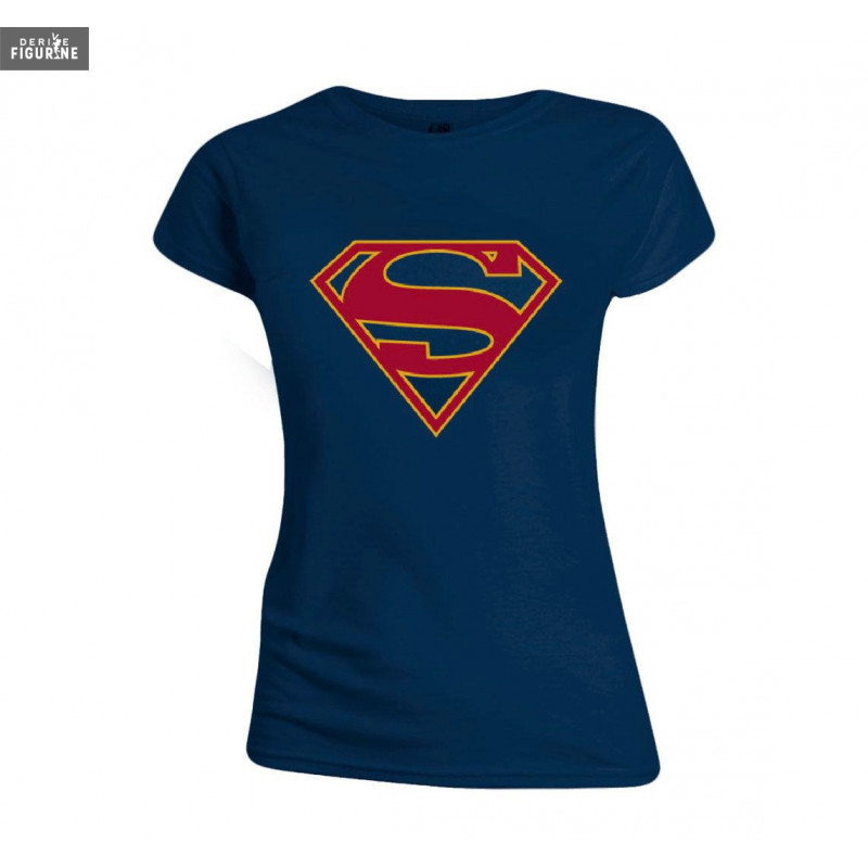 cee9144e Women Supergirl t-shirt. It is made of 100% cotton. The manufacterer is  Brands in limited.