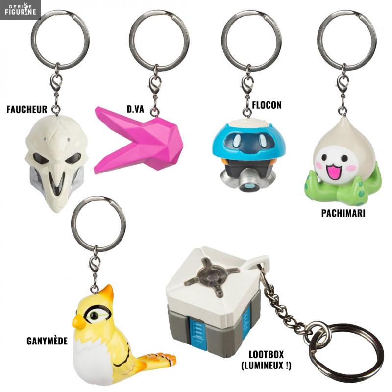 Snowball, Ganymede, D Va, Reaper, Pachimari or Lootbox keychain - Overwatch  - J!INX