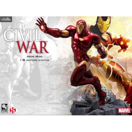 Marvel Civil War Figurine PVC Captain America 1//8