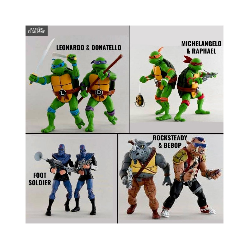 The Rise of the Teenage Mutant Ninja Turtles GIANT Action Figures Donat Cadeau