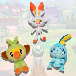 Sobble Grookey And Scorbunny Pack 3 Plushies Pokemon Sword And Shield Boti *please note that my plush toys are not meant for children due to being handmade and featuring certain materials unsafe for children (wire and plastic pellets). pokemon sword and shield pack 3 plushies sobble grookey and scorbunny