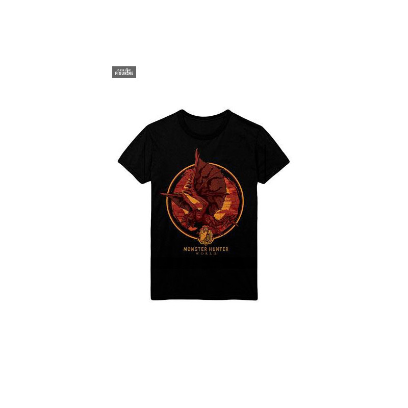 c0c439e2 Screaming Rathalos t-shirt for men. It is made of 100% cotton. The  manufacturer is Level Up Wear.