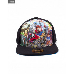 f20ab21a579b6 Super Mario Odyssey Snapback Cap - Key art