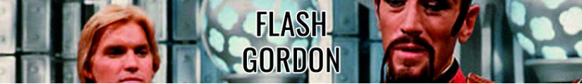 Figures Flash Gordon and merchandising products
