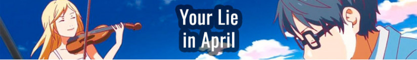 Figures Your Lie in April and merchandising products