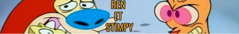 Figures Ren and Stimpy and merchandising products