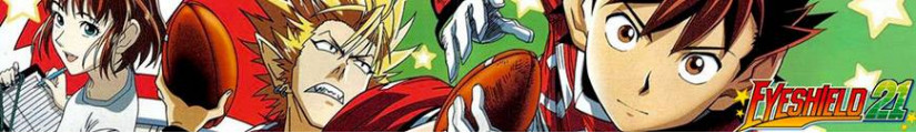 Figures Eyeshield 21 and merchandising products